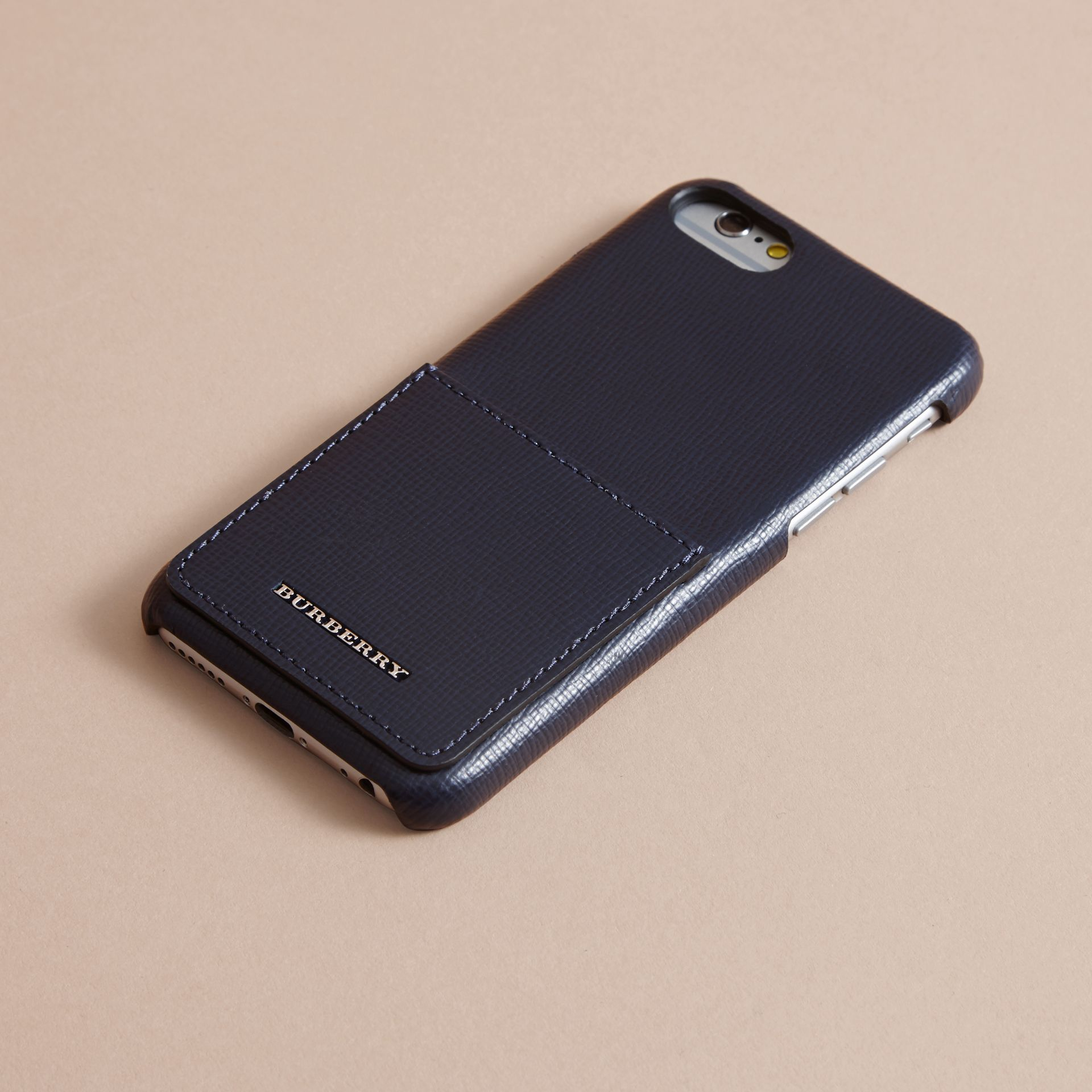 Grainy Leather iPhone 7 Case Dark Navy - gallery image 3