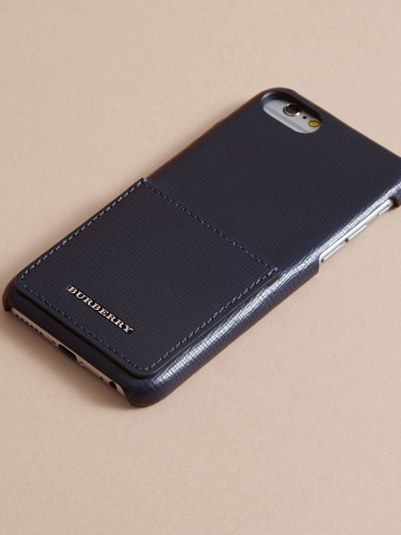Grainy Leather iPhone 7 Case Dark Navy - cell image 2