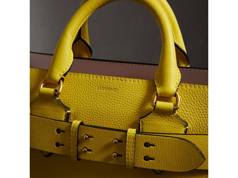 The Medium Leather Belt Bag in Bright Larch Yellow - Women | Burberry - cell image 1