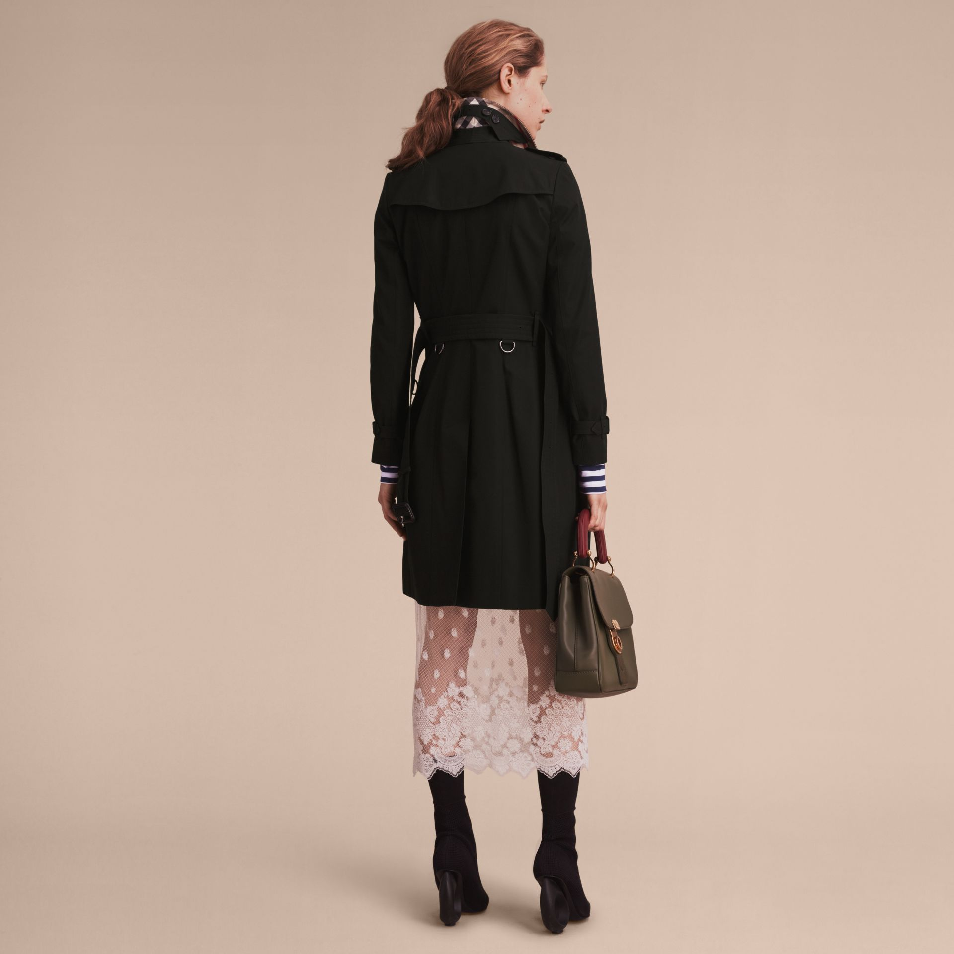 Black The Chelsea – Long Heritage Trench Coat Black - gallery image 4