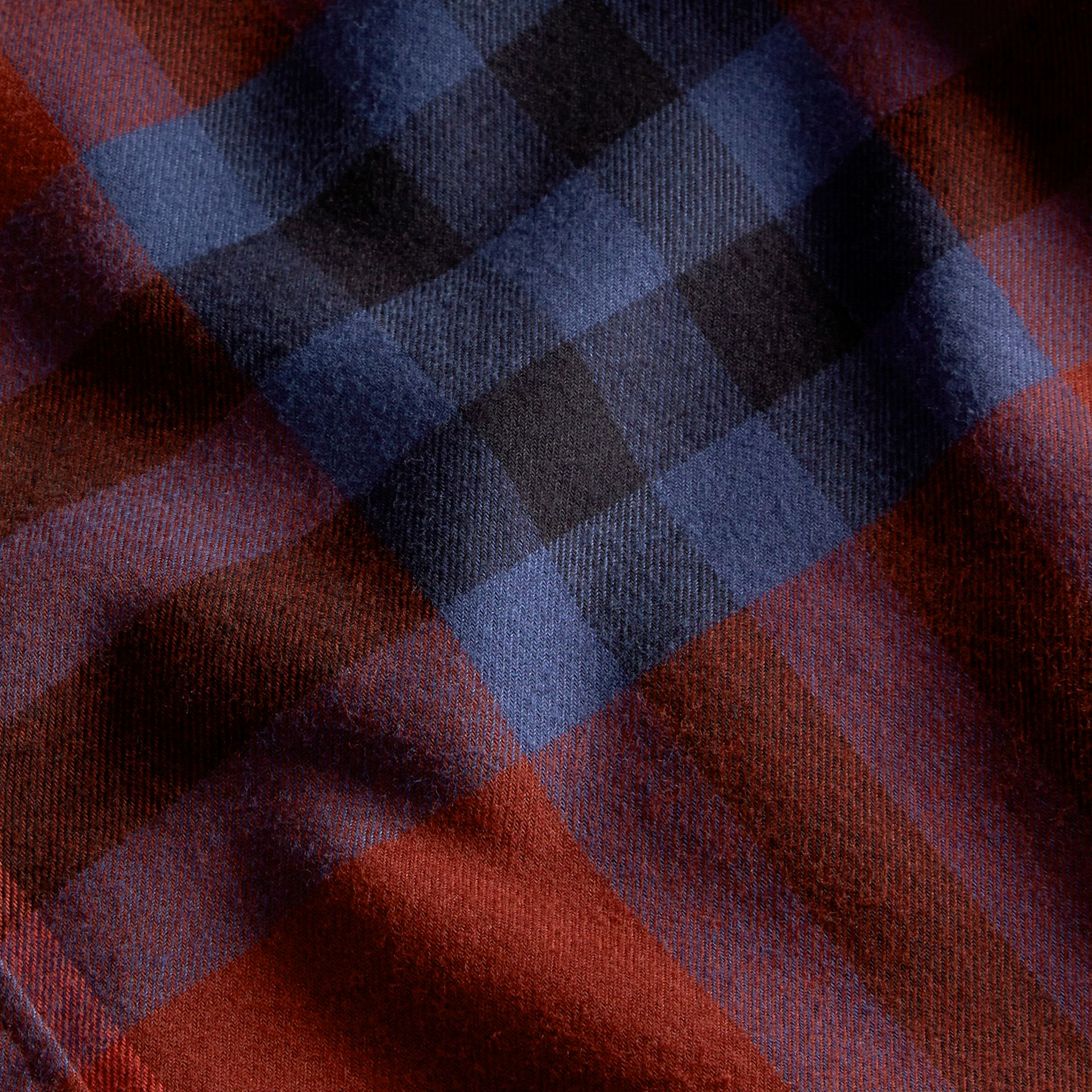 Dark elderberry Check Cotton Flannel Shirt Dark Elderberry - gallery image 2