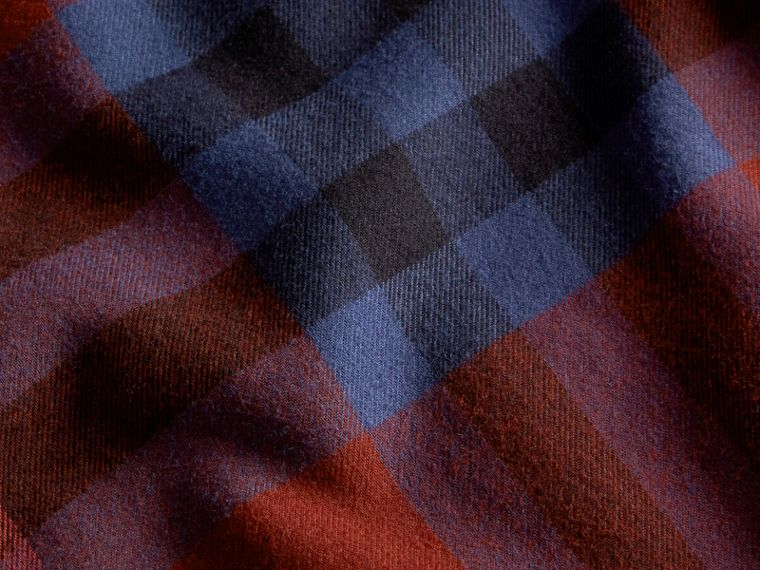 Dark elderberry Check Cotton Flannel Shirt Dark Elderberry - cell image 1