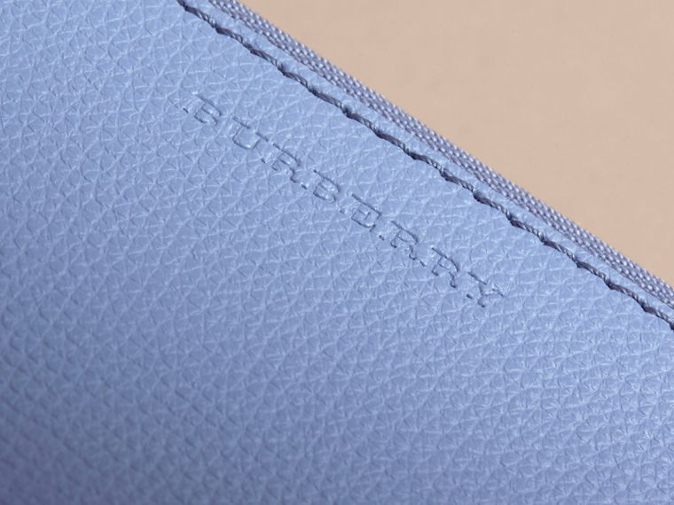 Haymarket Check and Leather Pouch in Slate Blue - Women | Burberry Australia - cell image 1