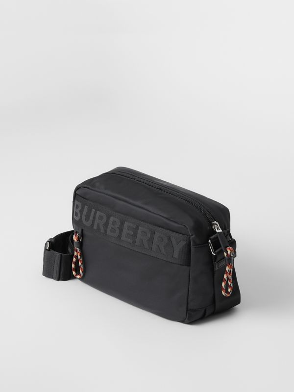 Logo Detail Crossbody Bag in Black - Men | Burberry Australia - cell image 3