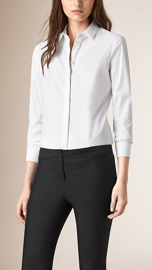 White Straight Fit Shirt - Image 1