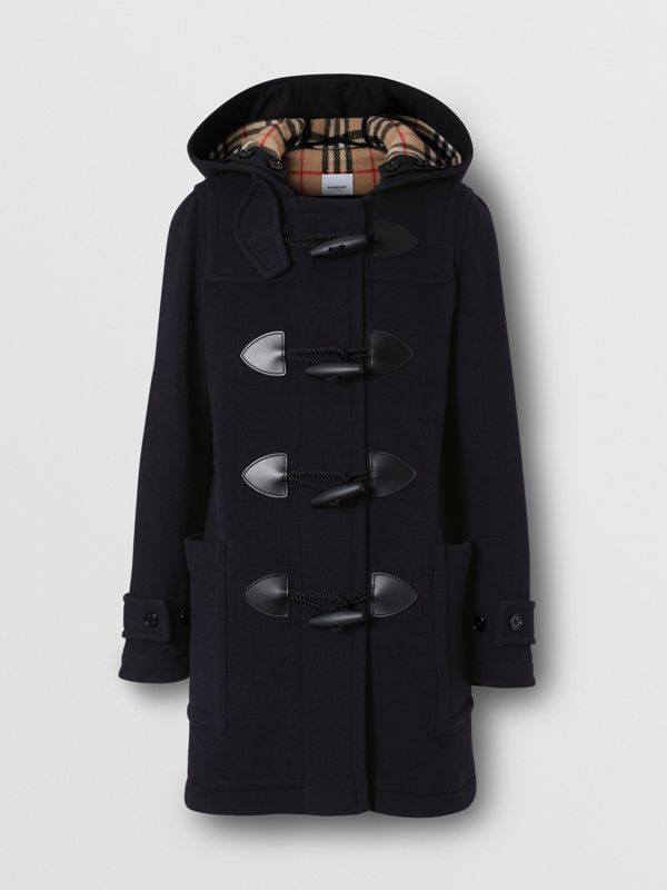 Wool Blend Duffle Coat in Navy - Women | Burberry - cell image 3