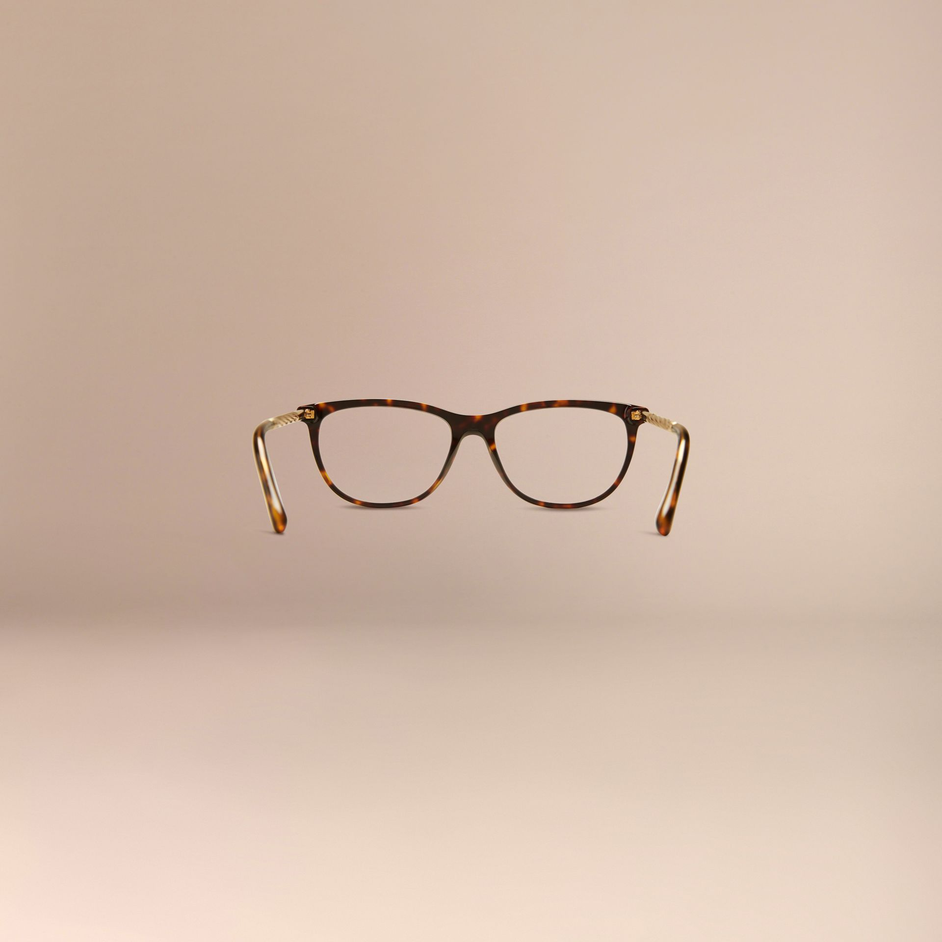 Tortoise shell Gabardine Collection Cat-Eye Optical Frames Tortoise Shell - gallery image 4