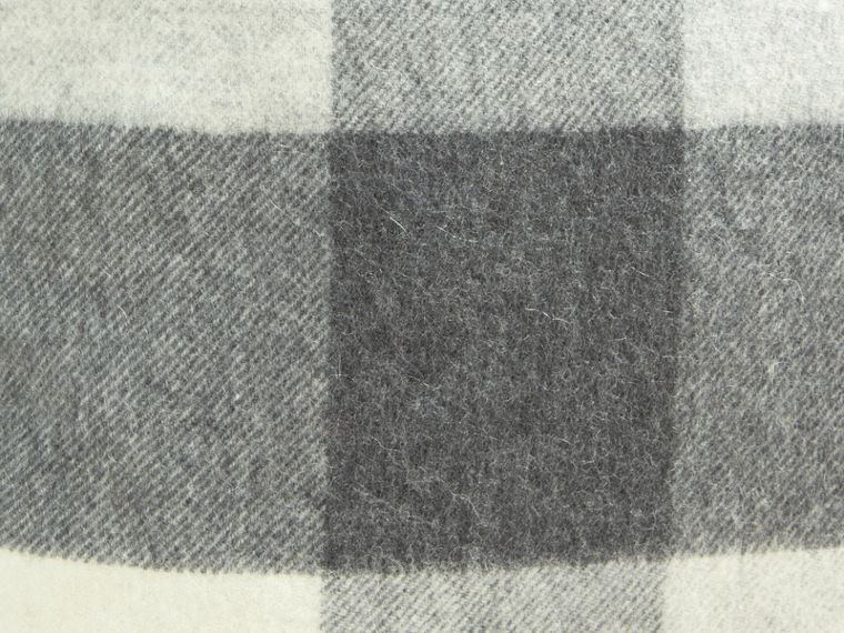 Pale grey Check Cashmere Cushion Cover Pale Grey - cell image 1
