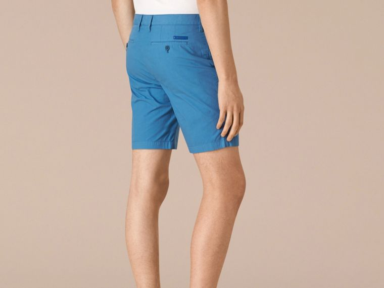 Lupin blue Cotton Poplin Chino Shorts Lupin Blue - cell image 1
