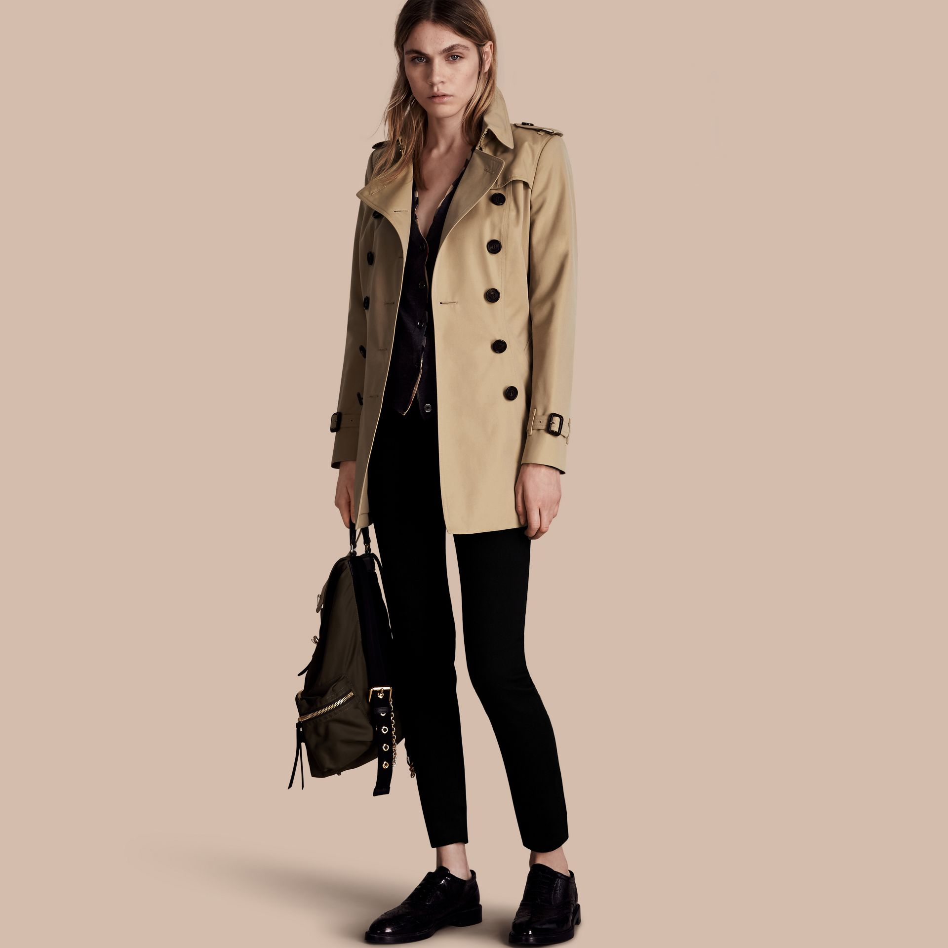 Miel Trench-coat Heritage court The Chelsea Miel - photo de la galerie 1