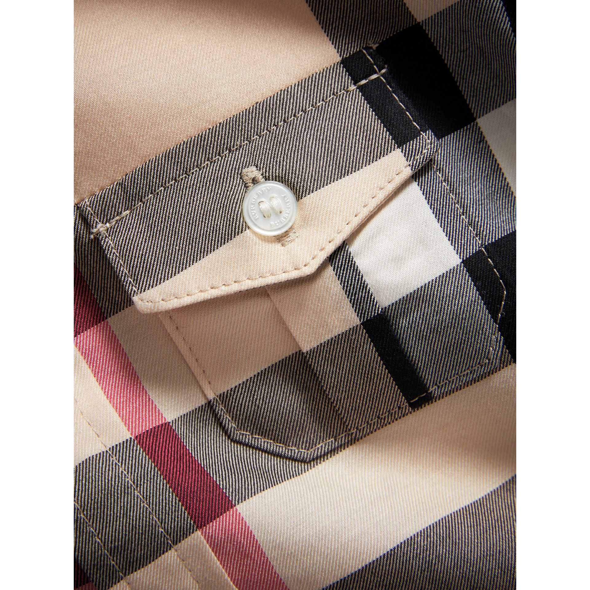 Check Cotton Shirt in New Classic - Boy | Burberry United Kingdom - gallery image 1