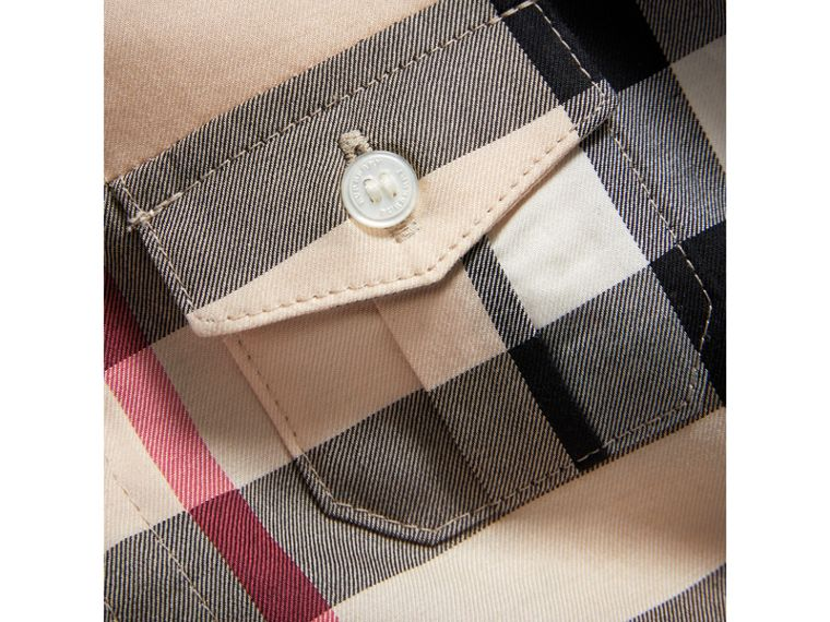 Check Cotton Shirt in New Classic - Boy | Burberry United Kingdom - cell image 1