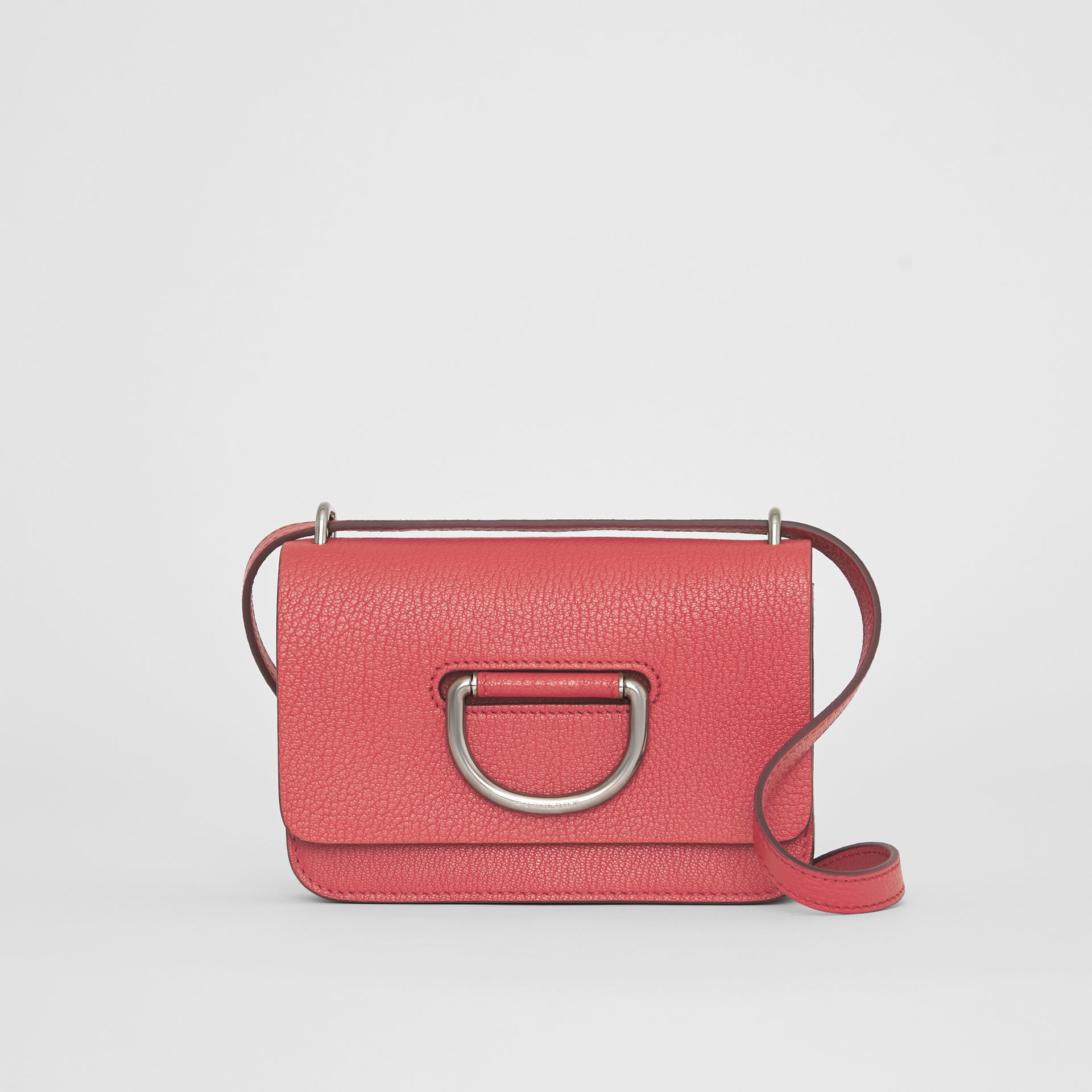 Borsa The D-ring mini in pelle (Rosa Corallo Brillante) - Donna | Burberry - immagine della galleria 0