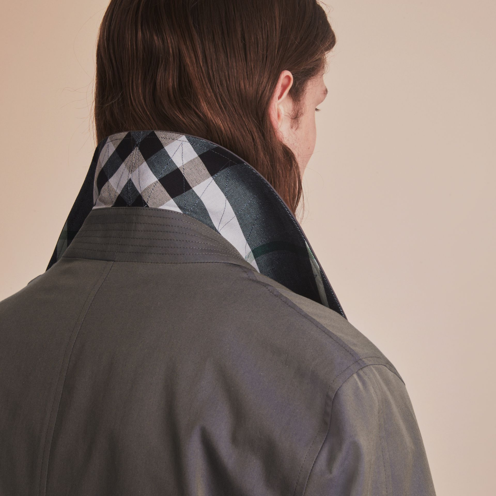 Tropical Gabardine Car Coat Storm Blue - gallery image 5