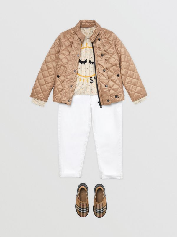 Lightweight Diamond Quilted Jacket in Camel | Burberry Australia - cell image 2