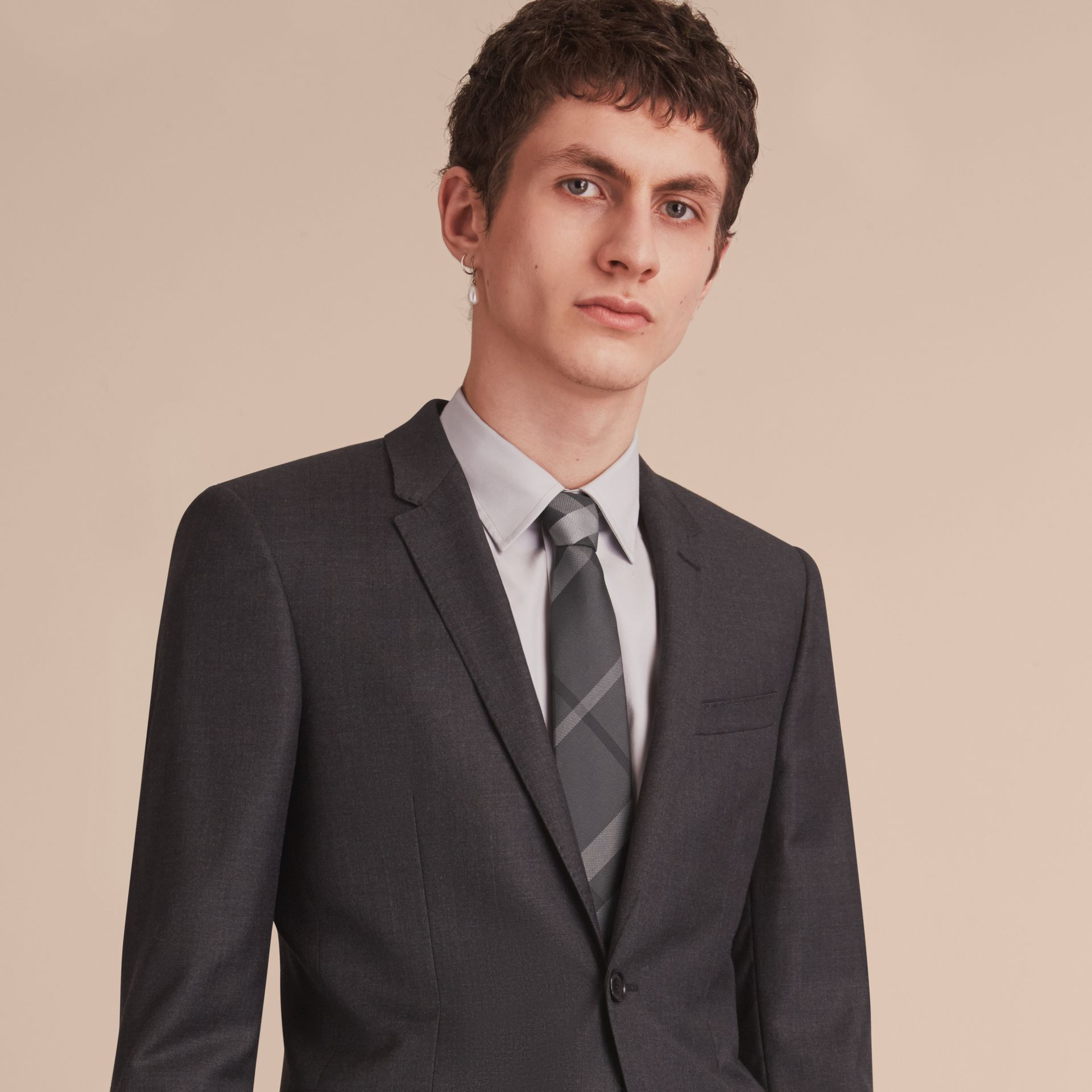 Modern Cut Beat Check Silk Tie - Men | Burberry - gallery image 3