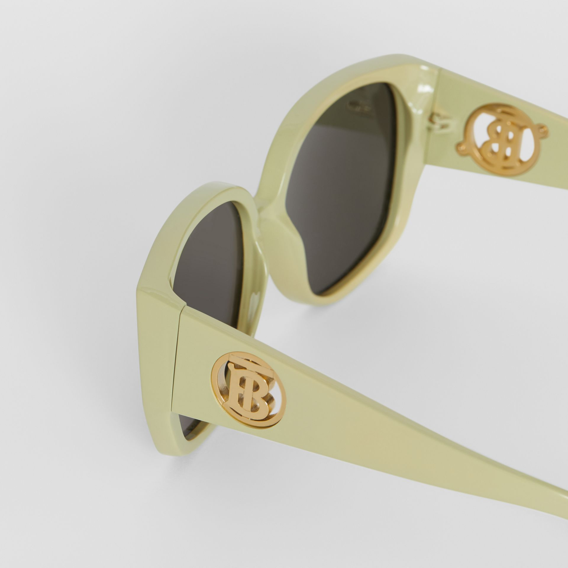 Oversized Butterfly Frame Sunglasses in Pistachio - Women | Burberry - gallery image 5