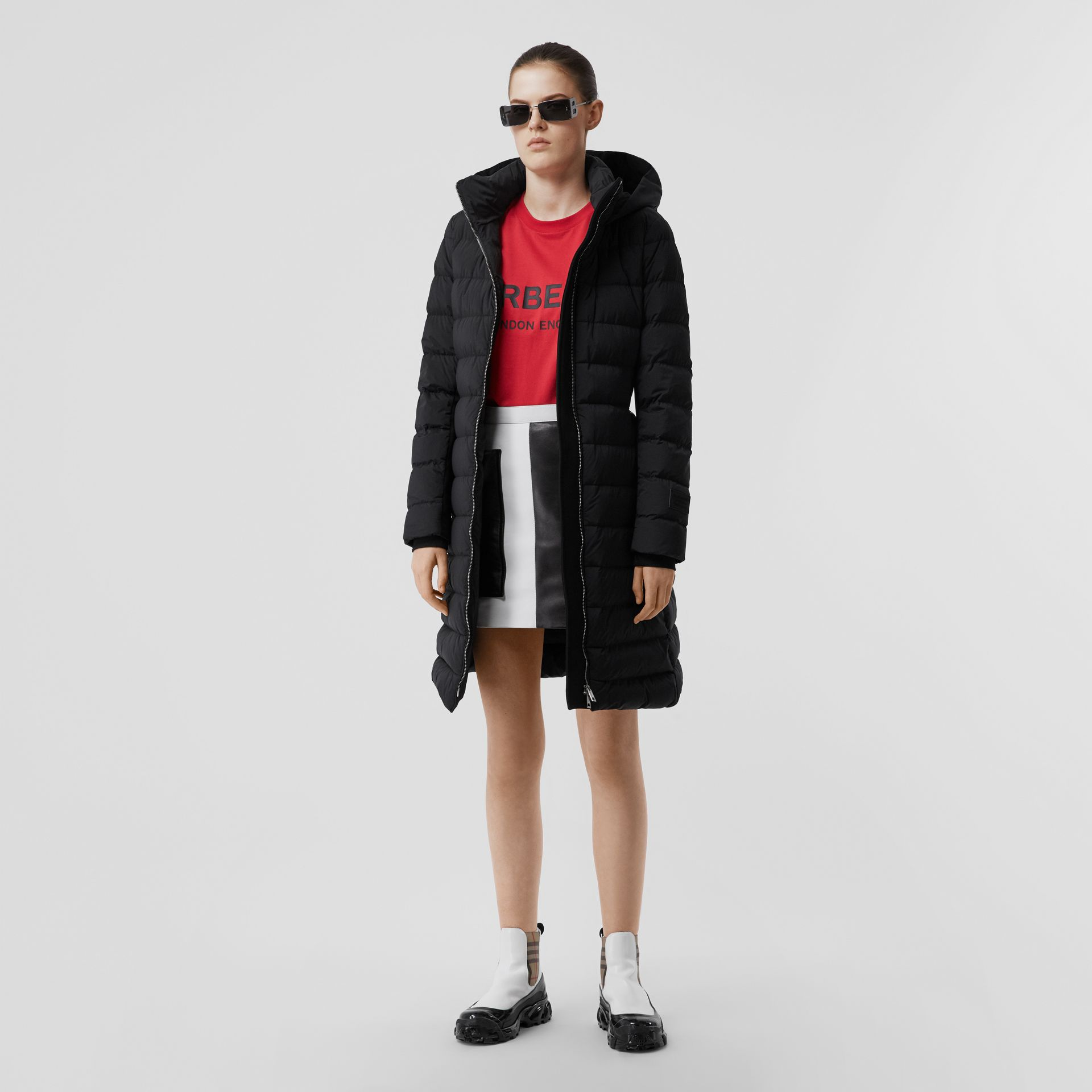 Hooded Puffer Coat in Black - Women   Burberry United States - gallery image 0