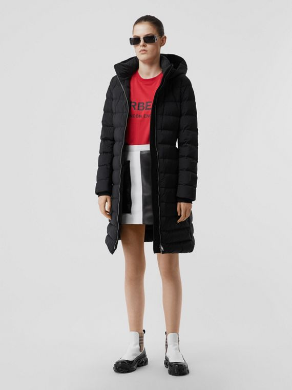 Hooded Puffer Coat in Black
