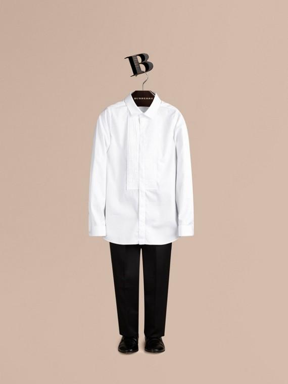 Camisa formal de algodón