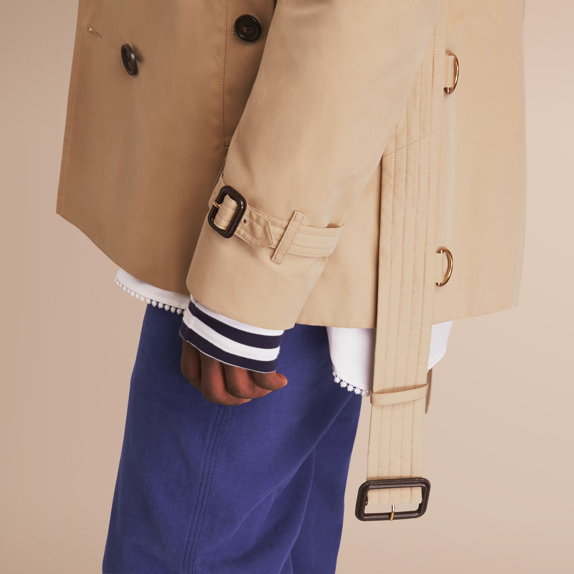 The Kensington – Short Heritage Trench Coat in Honey - gallery image 5