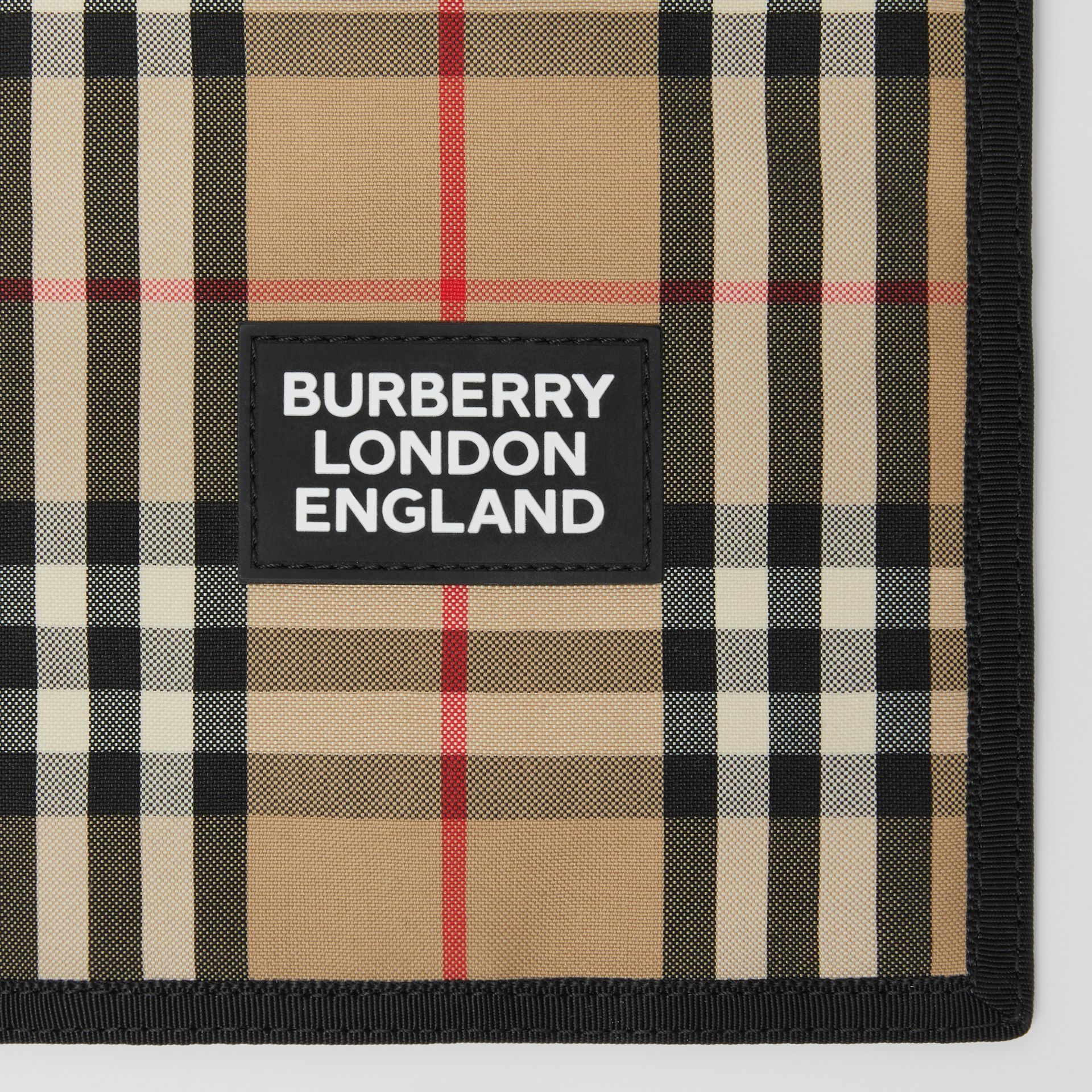 Logo Appliqué Vintage Check Phone Case Lanyard in Archive Beige | Burberry United States - gallery image 1