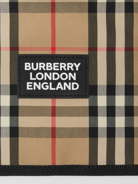 Logo Appliqué Vintage Check Phone Case Lanyard in Archive Beige | Burberry United States - cell image 1