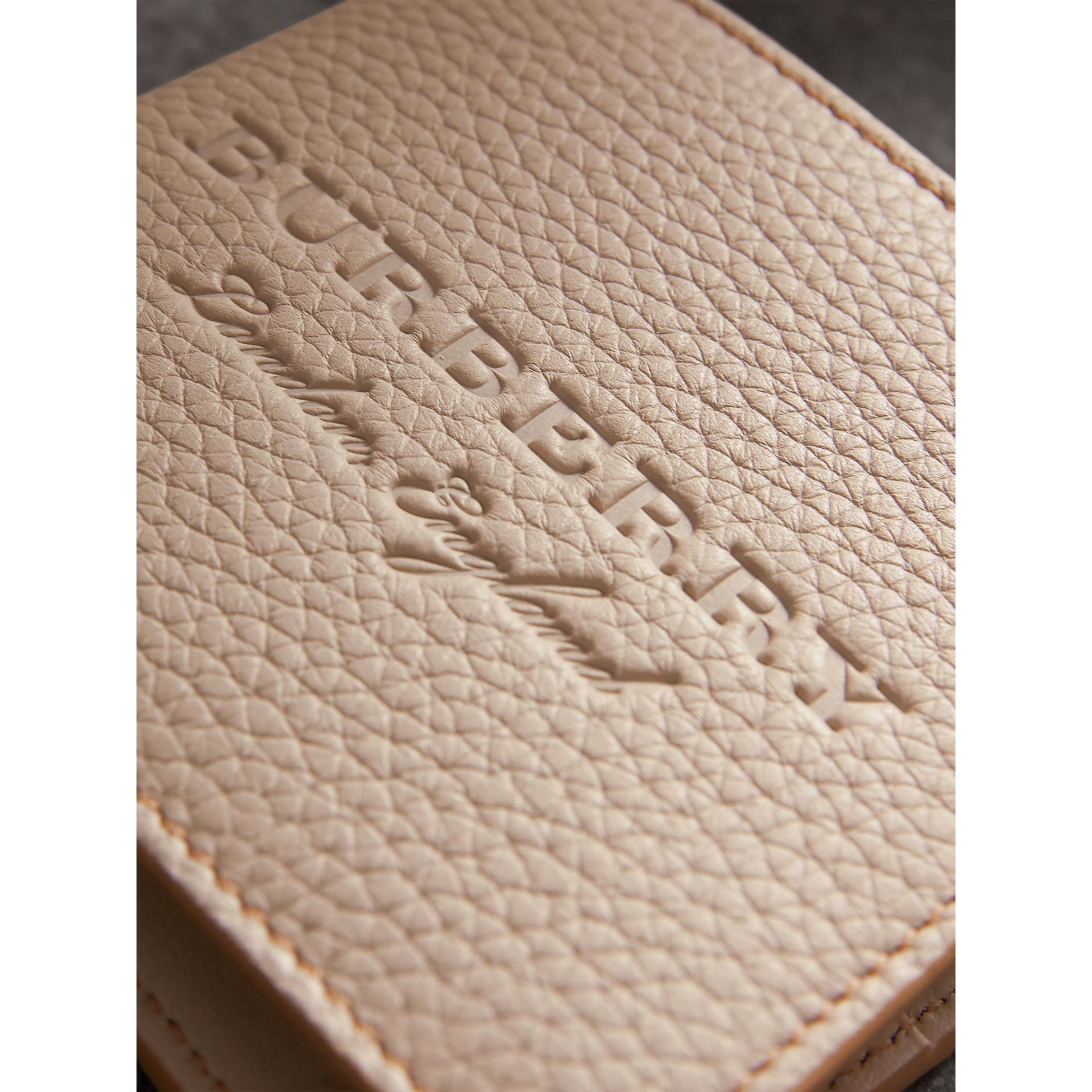 Embossed Leather Bifold Wallet in Chino - Men | Burberry - gallery image 2