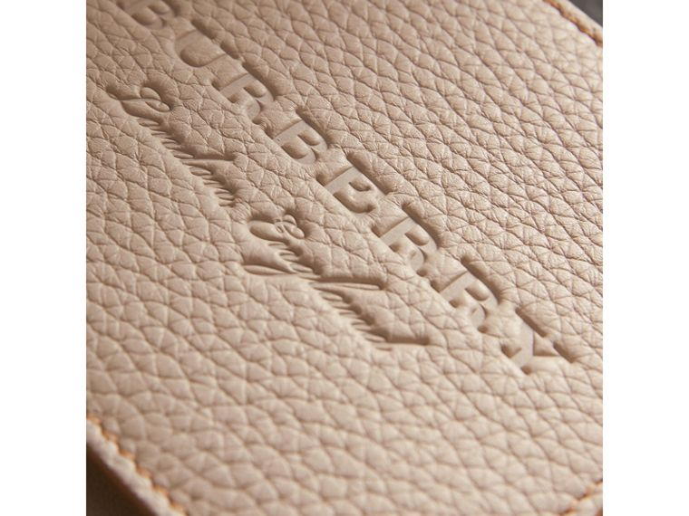 Embossed Leather Bifold Wallet in Chino - Men | Burberry - cell image 1