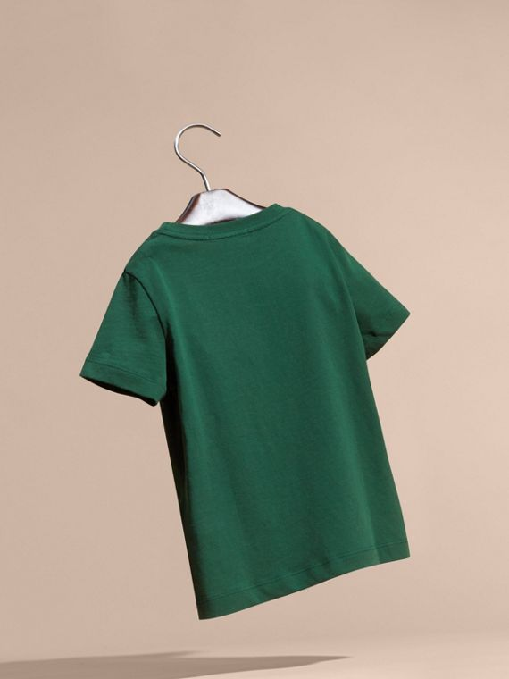 Forest green Check Pocket T-Shirt Forest Green - cell image 3