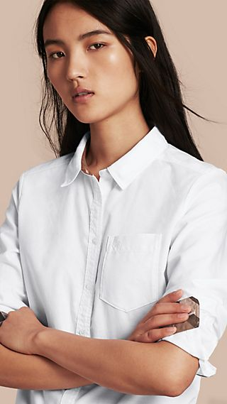Check Detail Cotton Shirt