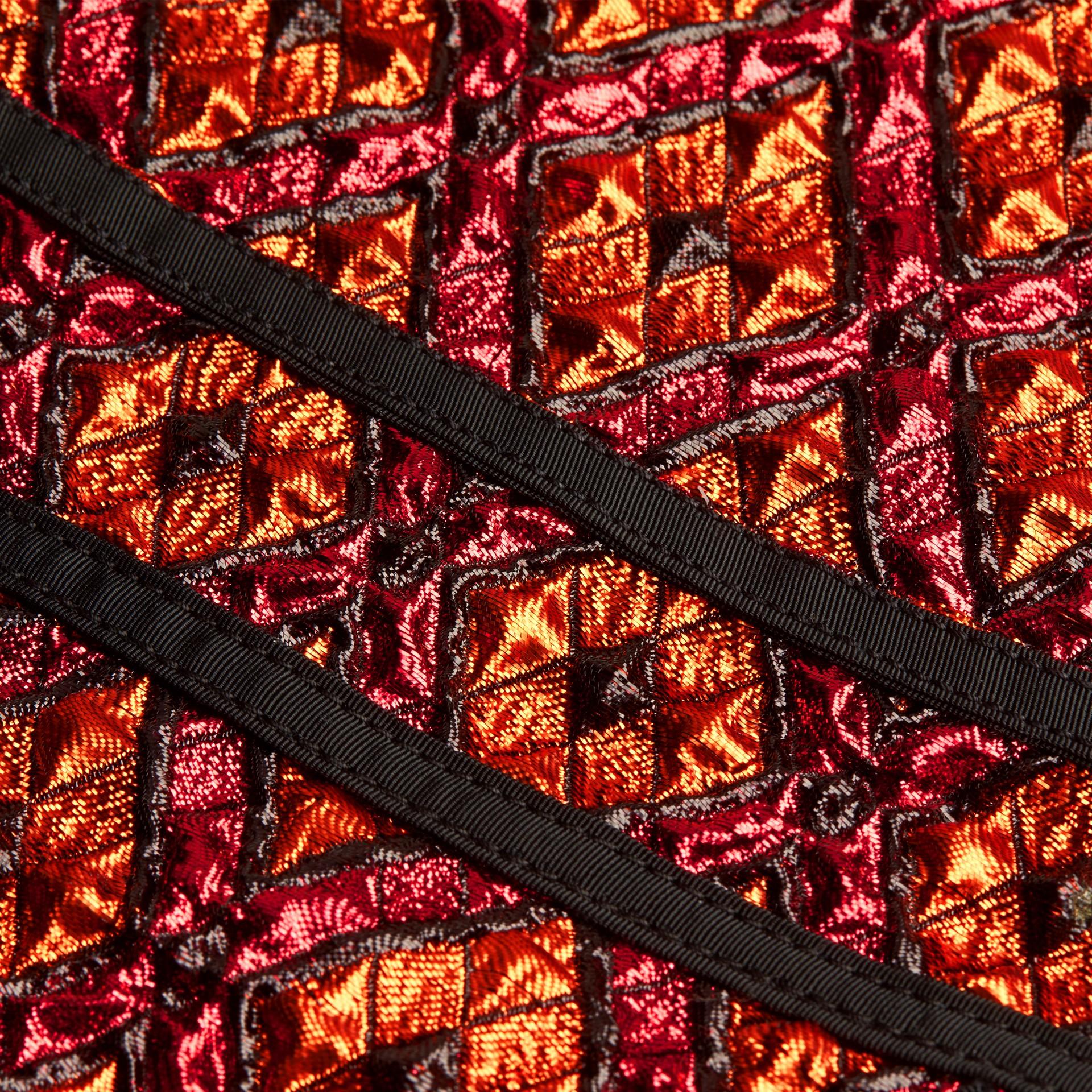 Cinnamon red Diamond Jacquard Sleeveless Dress - gallery image 2
