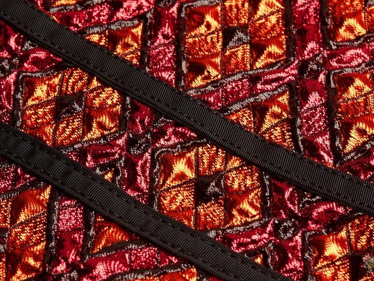 Cinnamon red Diamond Jacquard Sleeveless Dress - cell image 1