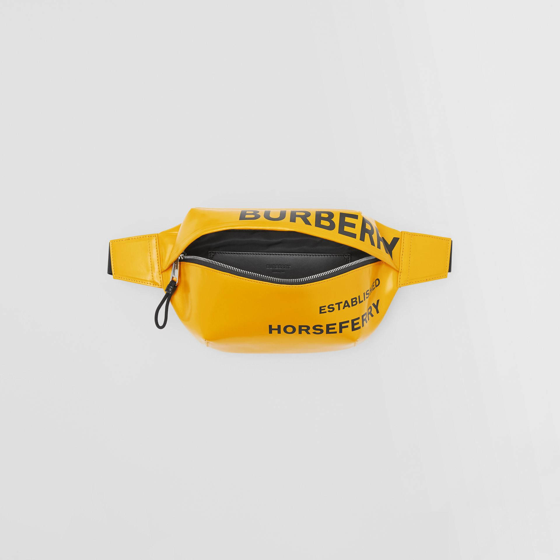 Medium Horseferry Print Bum Bag in Yellow | Burberry United Kingdom - gallery image 3