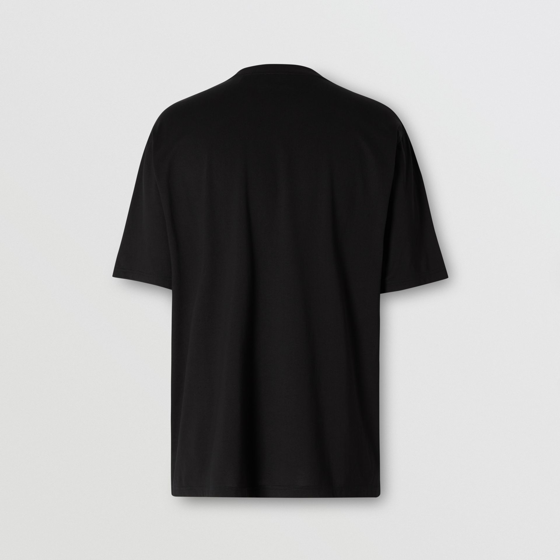 Contrast Logo Graphic Cotton T-shirt in Black - Men | Burberry - gallery image 5