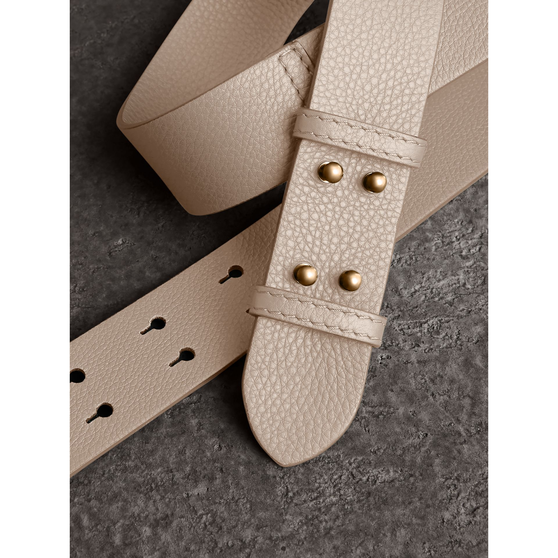 The Small Belt Bag Grainy Leather Belt in Limestone - Women | Burberry - gallery image 1
