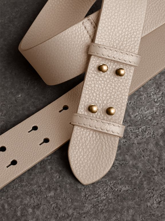 The Small Belt Bag Grainy Leather Belt in Limestone - Women | Burberry - cell image 1