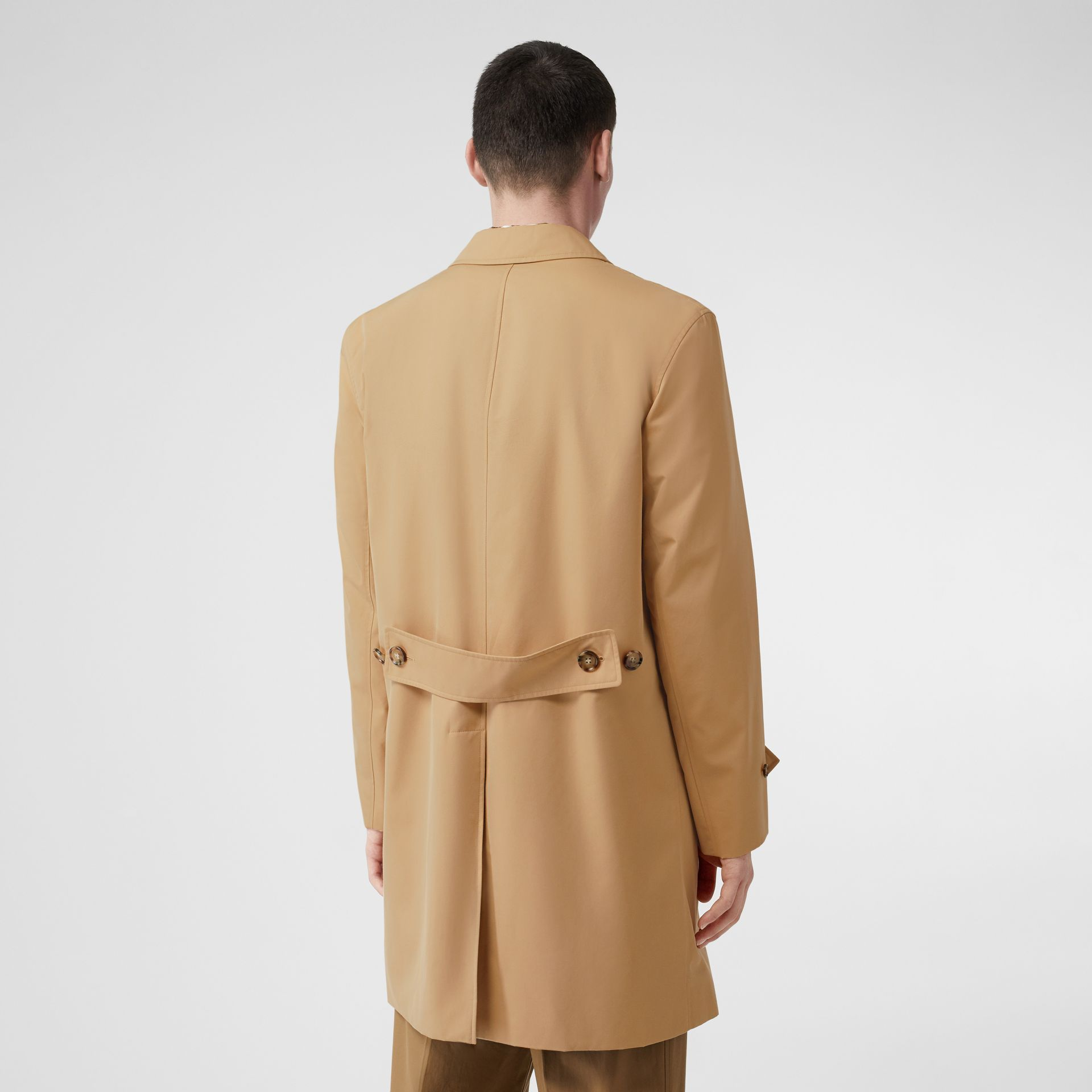 Cotton Gabardine Lab Coat in Honey - Men | Burberry Australia - gallery image 2
