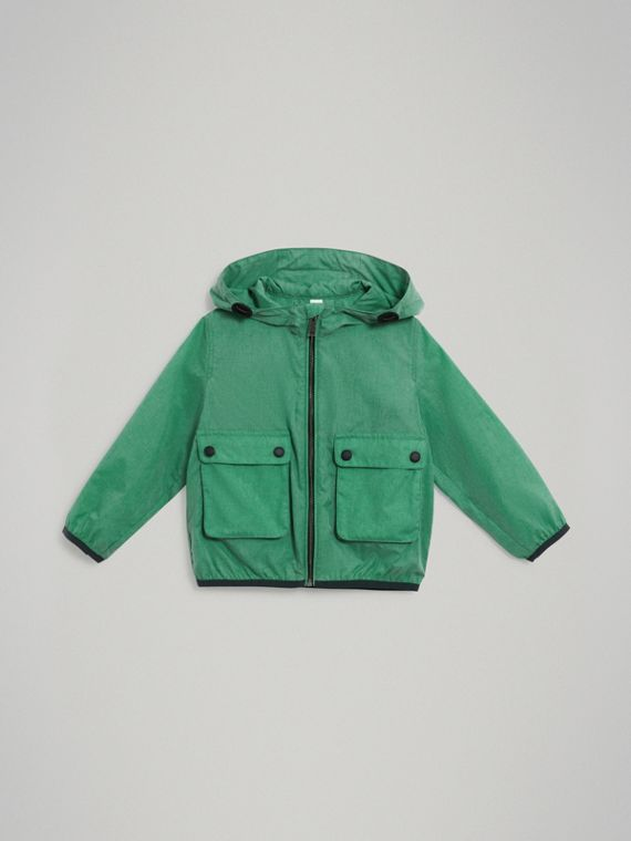 Showerproof Hooded Jacket in Vibrant Green