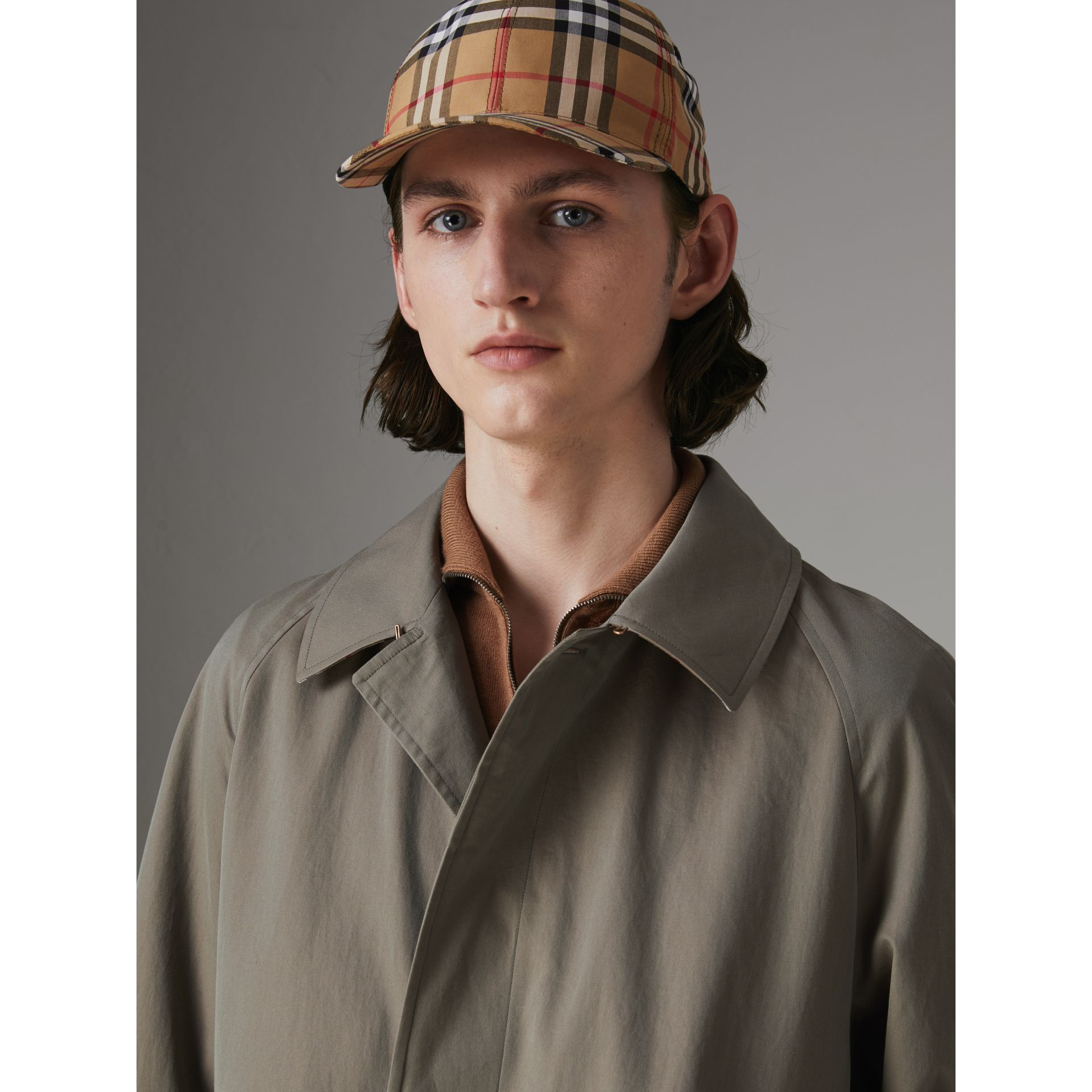 The Brighton Car Coat in Chalk Green - Men | Burberry - gallery image 1