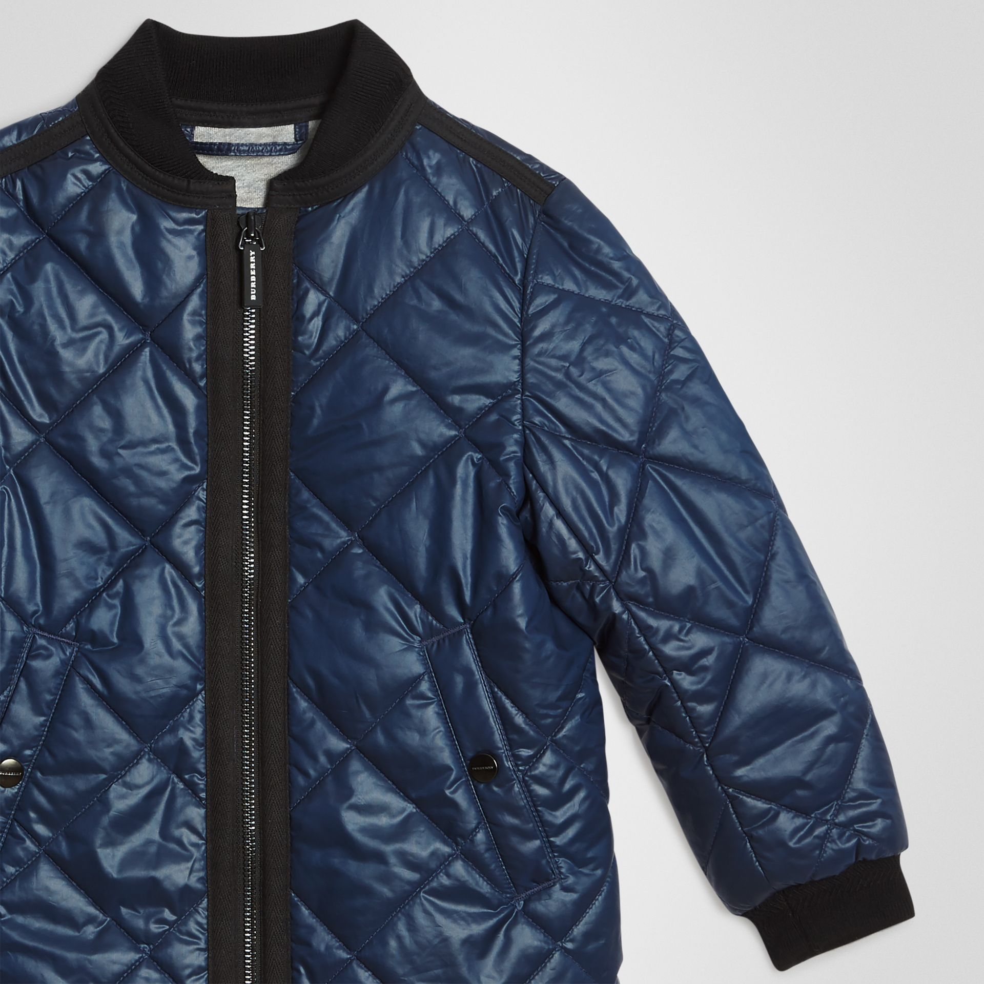 Showerproof Diamond Quilted Jacket in Navy | Burberry - gallery image 4