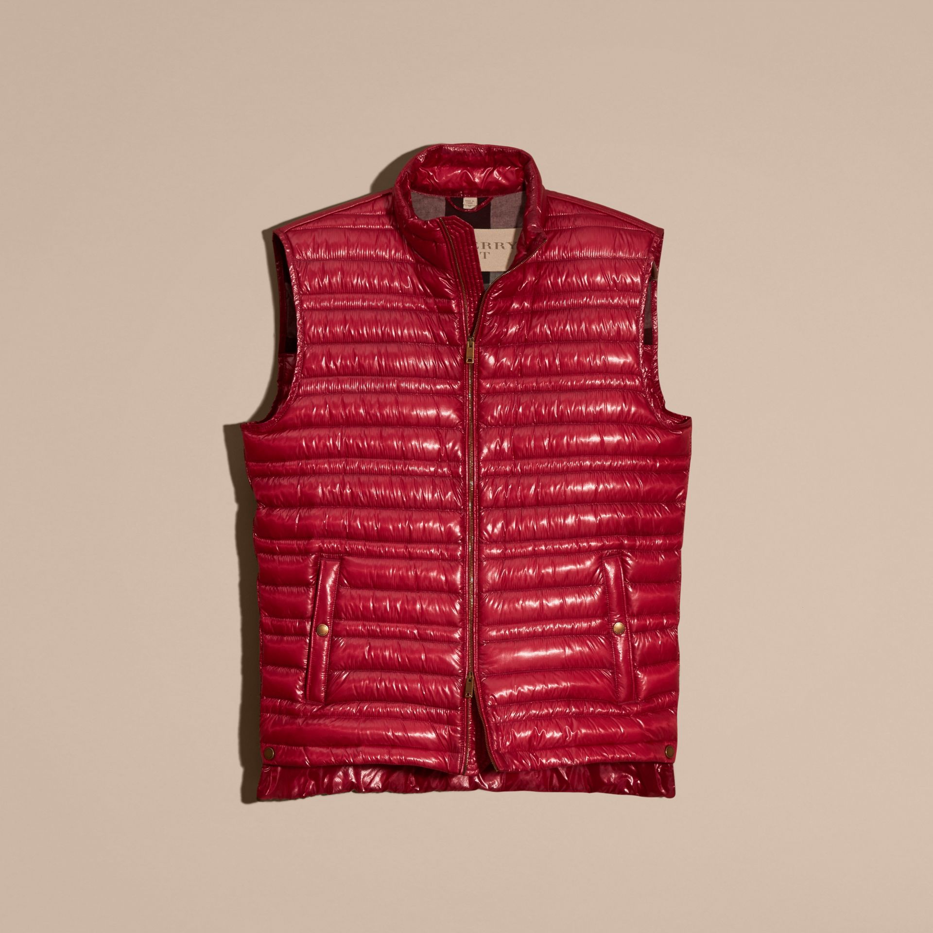 Parade red Lightweight Down-filled Gilet Parade Red - gallery image 4