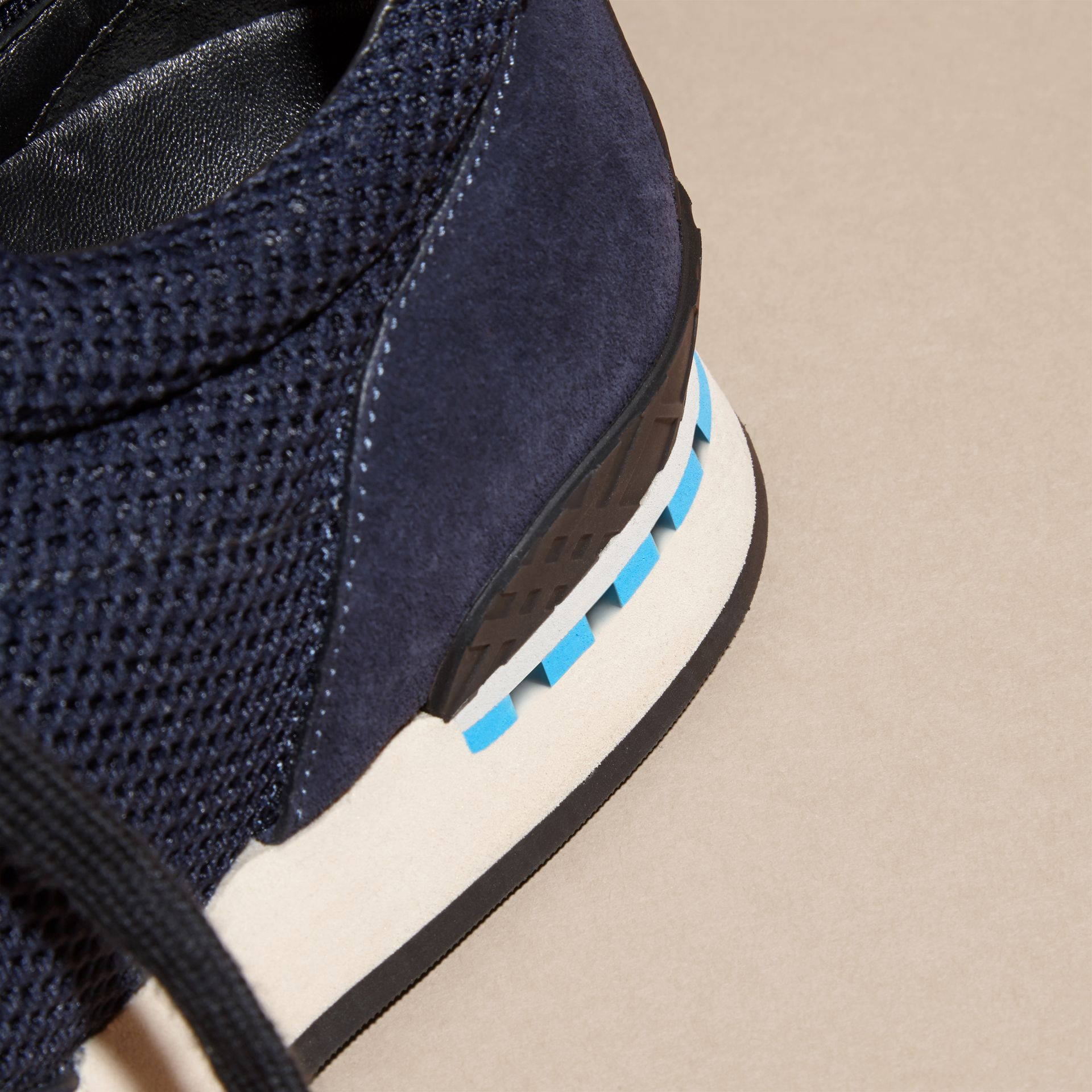 Navy The Field Sneaker in Suede and Mesh Navy - gallery image 6
