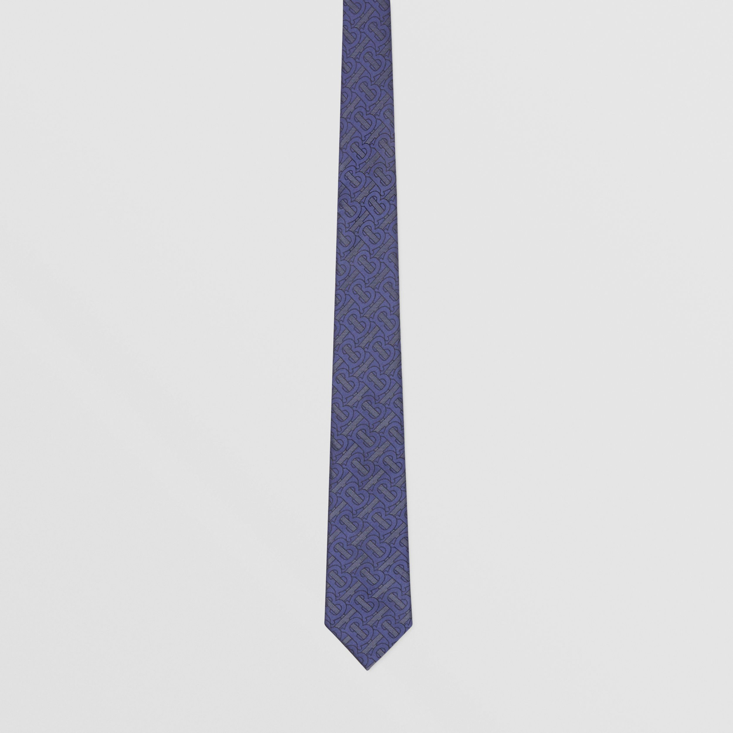 Classic Cut Monogram Silk Blend Jacquard Tie in Bright Indigo - Men | Burberry - 4