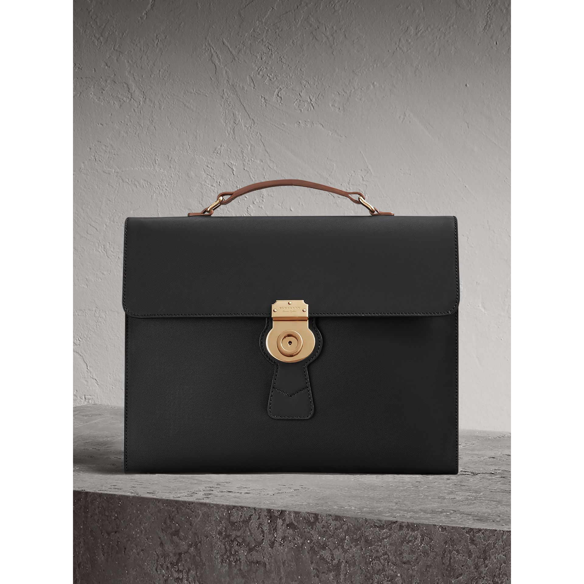The Large DK88 Document Case in Black - Men | Burberry United States - gallery image 0