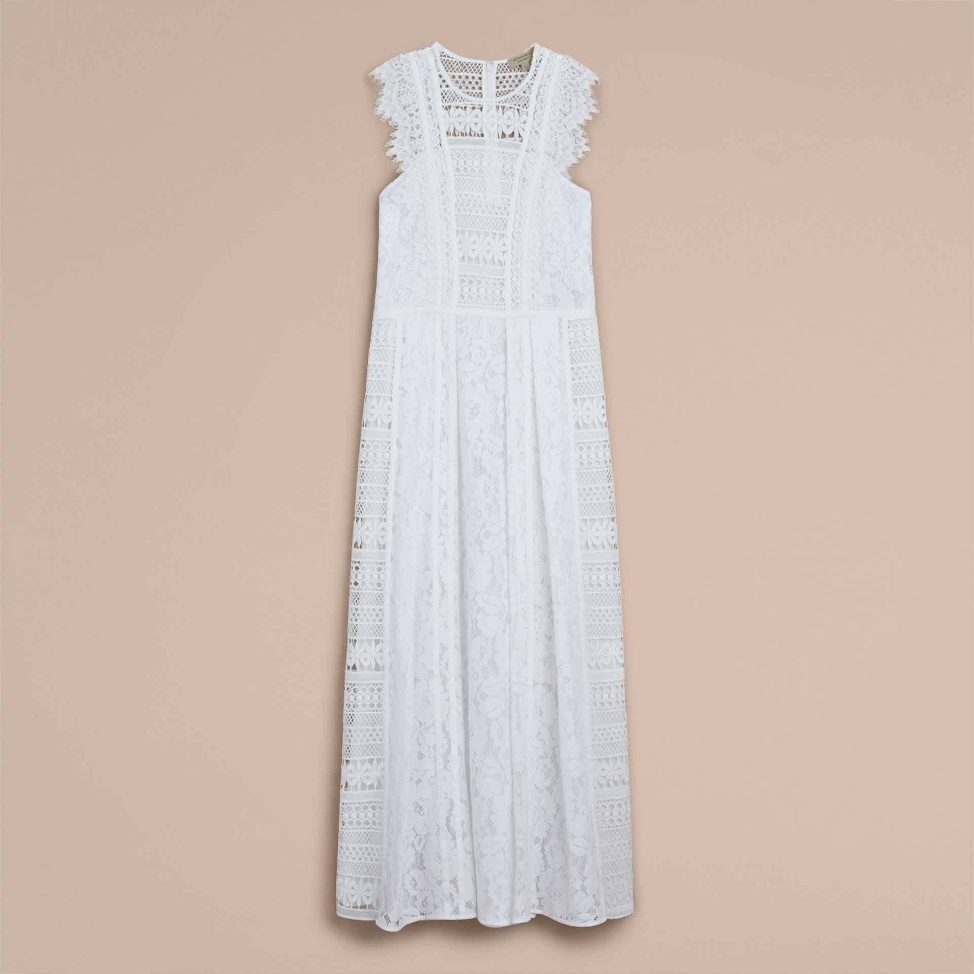 Sleeveless Macramé Lace Dress - Women | Burberry Australia - gallery image 4
