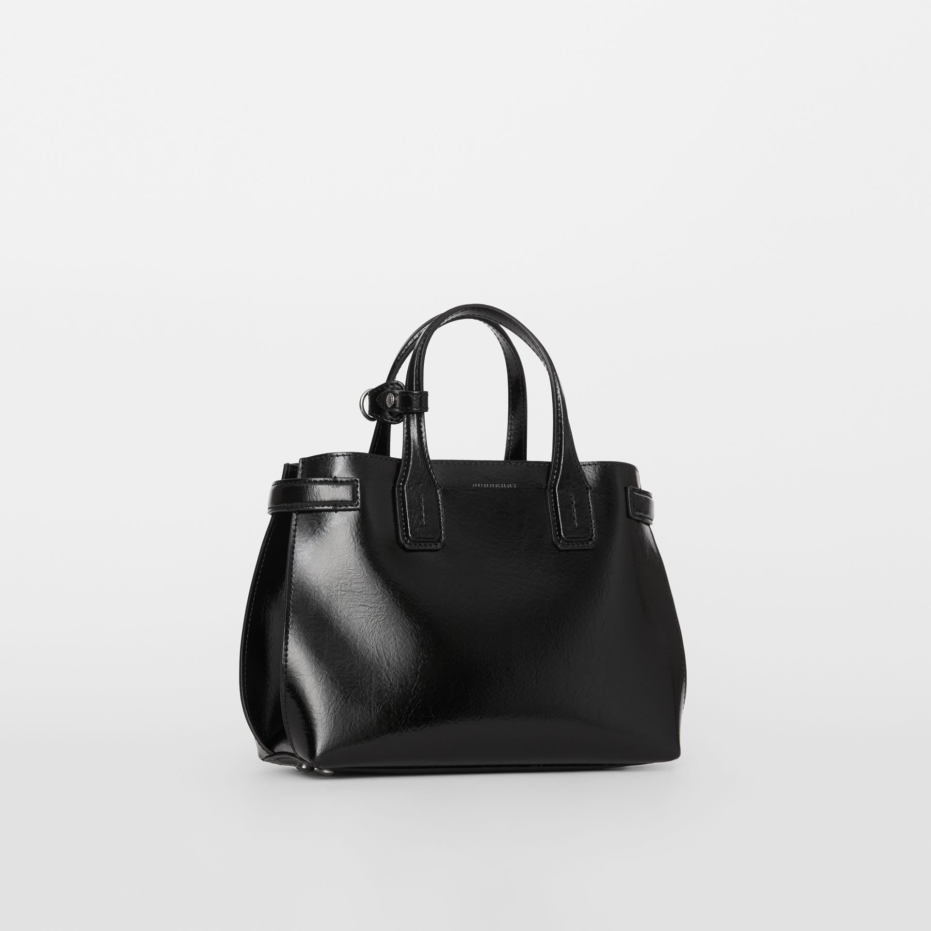 The Small Soft Leather Banner in Black - Women | Burberry - gallery image 0