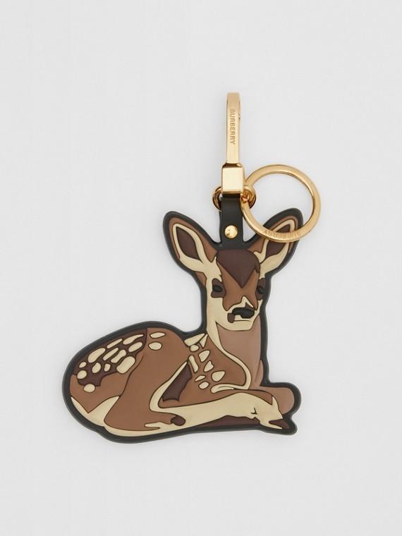 Deer Charm in Brown/multicoloured