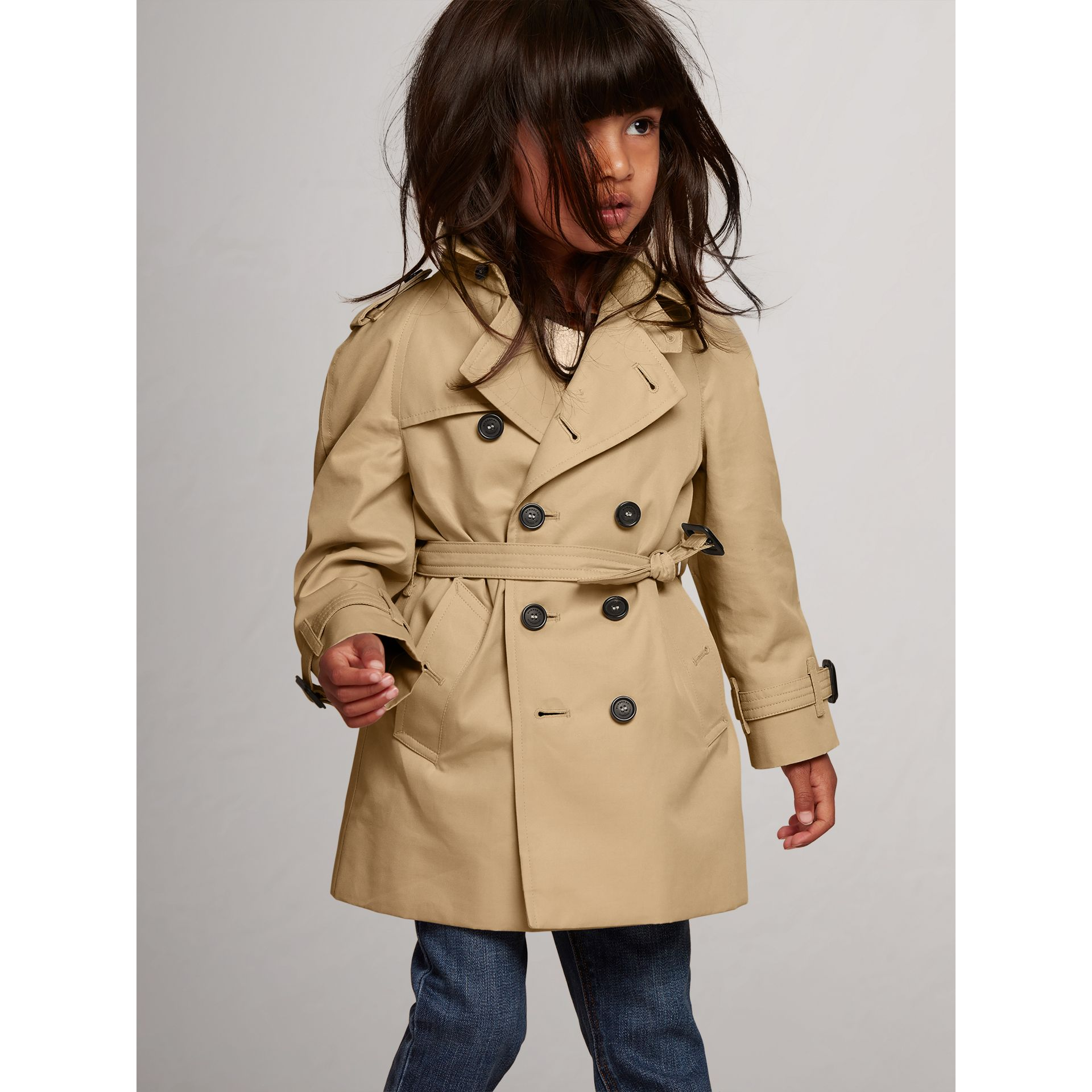The Wiltshire Trench Coat in Honey - Children | Burberry - gallery image 4