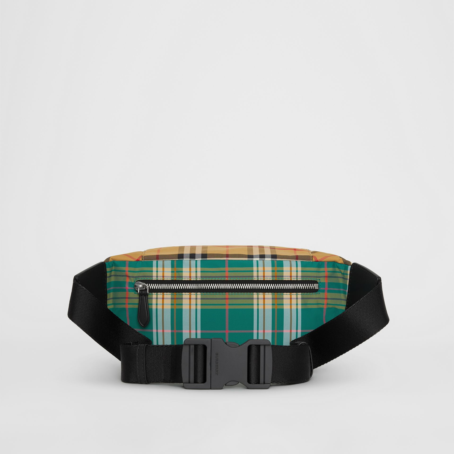 Medium Vintage Check and Tartan Bum Bag in Pine Green | Burberry Australia - gallery image 5